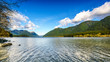 Alouette Lake in Golden Ears Provincial Park in the Coastal Mountain Range in British Columbia, Canada