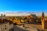 Fototapety Top view of the old town in Warsaw. HDR - high dynamic range