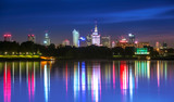 View of downtown Warsaw from the Vistula night - 108823261