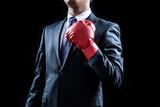 ビジネスマン、ボクシンググローブ、プライド