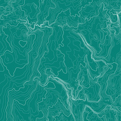 Topographic map background concept in green colors.