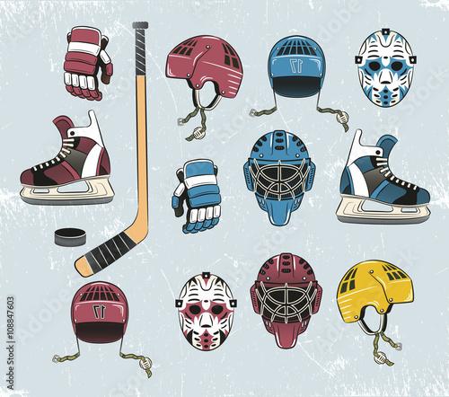 fototapeta na ścianę hockey tems color