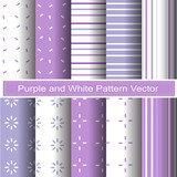 purple and white pattern vector