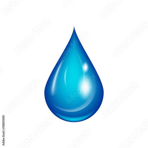 Ilustracja wektorowa kropla wody.