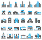 Fototapety Building Icons Set