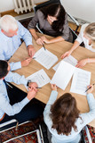 Lawyers having team meeting in law firm - 108885866