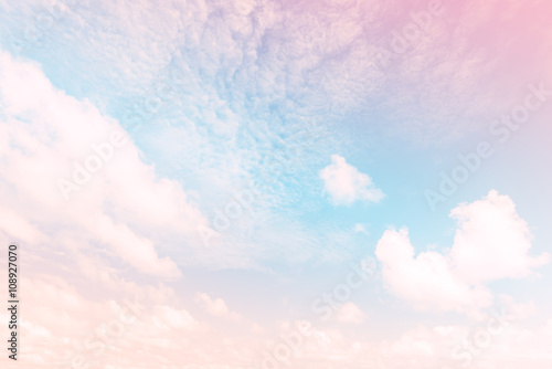 Poster Sky with a pastel colored gradient