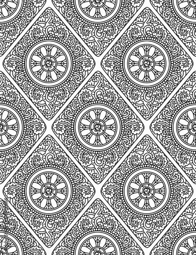 Monochromatic ethnic seamless background - 108930666