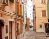 old narrow street in Slovenia