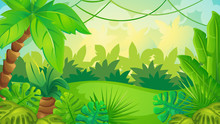 Cartoon Jungle Game Background