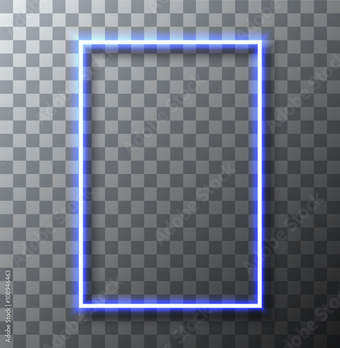 vector modern neon banner on transparent background