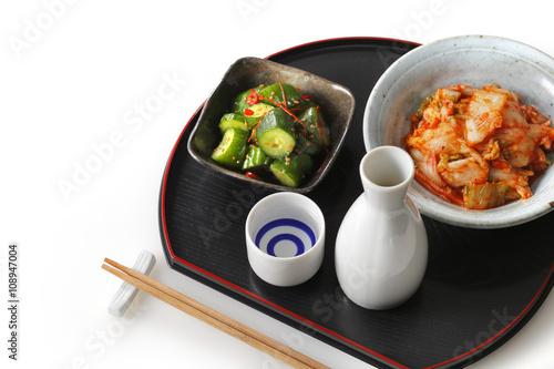日本酒 晩酌イメージ Japanese SAKE and appetizer © Nishihama