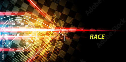 Racing square background, vector illustration abstraction in racing track