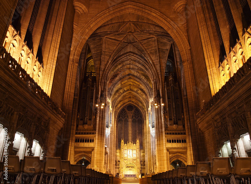 Poster Liverpool Anglican Cathedral Interior