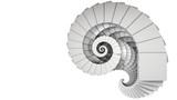 3D illustration of spiral object