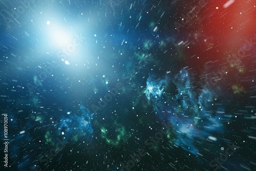 Deep space. High definition star field background Poster