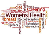 Womens Health, word cloud concept 2