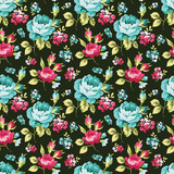 Seamless floral pattern with little pink roses - 108980411