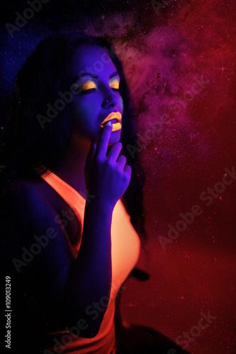 Neon Art Makeup Poster
