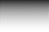 Basic halftone dots effect in black and white color. Halftone effect. Dot halftone. Black white halftone. - 109016452