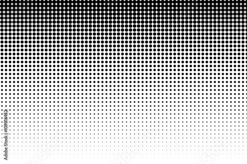 Fototapeta Basic halftone dots effect in black and white color. Halftone effect. Dot halftone. Black white halftone.