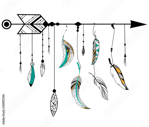 arrow-and-feather-for-tribal-boho-style