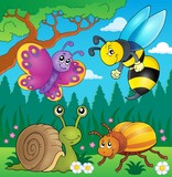 Spring animals and insect theme image 4