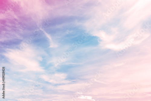 Fototapeta Sky with a pastel colored gradient