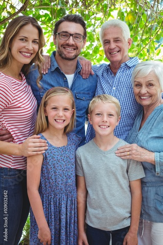 Portrait of smiling multi generation family