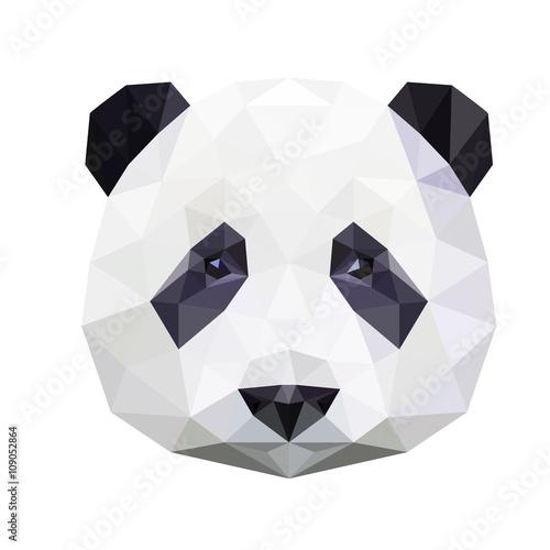 Fototapeta Panda bear polygonal portrait