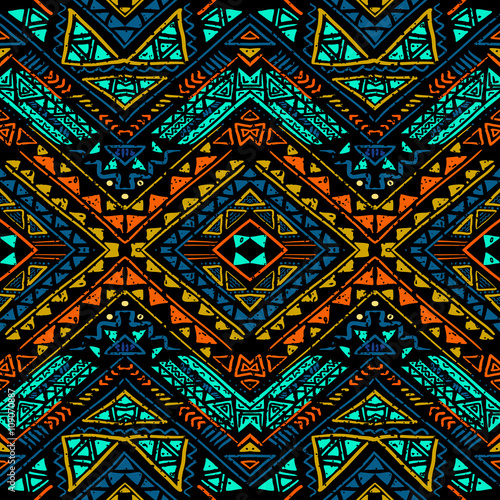 Seamless aztec pattern - 109070887