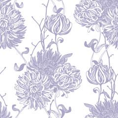 Floral background. Seamless floral pattern.  © amiloslava