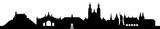 Fulda skyline schwarz // Vektor