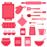 Fototapety Vector icons collection on baking theme