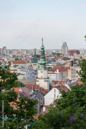 Plagát, Obraz Bratislava cityscape , cathedral St. Martin