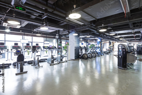 Equipment and design of modern gym buy photos ap images
