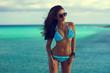 stylish girl wearing bikini