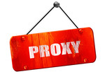proxy, 3D rendering, vintage old red sign