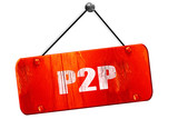 p2p, 3D rendering, vintage old red sign