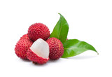 Fototapety lychees isolated on the white background