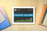 passive income word on tablet