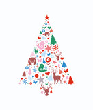 Abstract decorative Christmas tree - 109150039