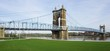 The Roebling suspension bridge between Ohio and Kentucky