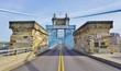 The Roebling suspension bridge over the Ohio River in Cincinnati