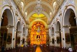 Interior of Saint Peter Church in Lima, Peru