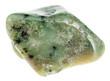 ������, ������: tumbled green Grossular garnet gemstone isolated