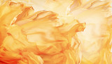 Fototapety Abstract Fabric Flame Background, Artistic Waving Cloth Fractal Pattern