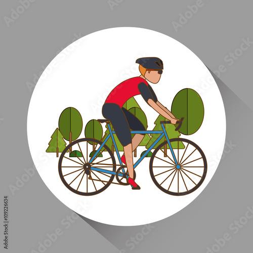 Fototapeta Flat illustration of bike lifesyle design, edita