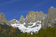 Canali mountain (Cima Canali) from the valley Canali (Val Canali), mountain group Pale di San Martino, Dolomite mountains - Italy, Europe, UNESCO World Heritage Site