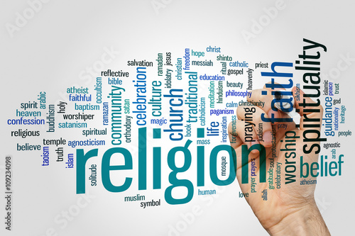 Poster Religion word cloud